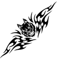 Wolf and symmetric tribals vector image vector image