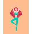 Yoga woman Pose Vrikshasana Girl Meditation vector image vector image