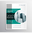 company annual report business brochure design vector image