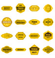 golden labels set flat icons vector image