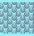 abstract blue peacock feathers pattern vector image