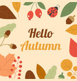 autumn composition frame made of autumn leaves vector image
