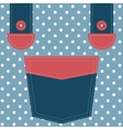 blue pocket and suspenders vector image vector image
