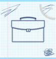 briefcase line sketch icon isolated on white vector image vector image