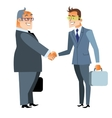 Business handshake deal Finance and contract vector image vector image