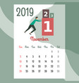 calendar 2019 november calendar calendar vector image vector image