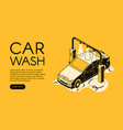 car wash service halftone vector image