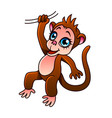 cartoon monkey isolated vector image