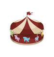 children carousel isometric vector image vector image