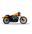 classic detailed motorcycle in flat style design vector image