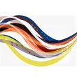 Colorful wave stripes and lines vector image vector image