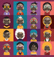 cute hippo avatars vector image