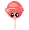 cute lollipop on white background vector image vector image