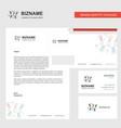 decoration lights business letterhead envelope vector image vector image