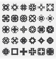 design elements set tribal cross vector image vector image