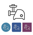 Electric meat chopper line icon in different
