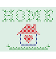 Embroidered house vector image