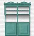empty vintage cupboard for your design vector image vector image