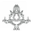 Exquisite Rich Baroque Classic chandelier vector image vector image