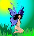 female fairy vector image vector image