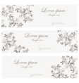Floral banners retro style vector image vector image