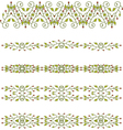 floral branch border vector image vector image