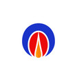 gas oil logo vector image vector image