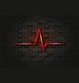 heart beat cardiogram red glowing neon sign