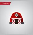 isolated barn flat icon farmhouse element vector image