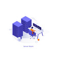 isometric for website vector image