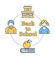 linear concept of back to school vector image