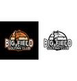 logo design big field golfing club with golfer vector image vector image