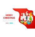 merry christmas 2020 banner concept vector image vector image