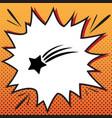 meteor shower sign comics style icon on vector image vector image