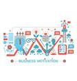 modern flat thin line design business motivation vector image vector image
