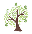 Money tree on white background vector image vector image