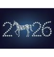 new year 2026 creative greeting card with horse vector image vector image