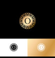 o gold letter monogram gold circle lace ornament vector image