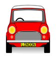 Red mini vector image vector image