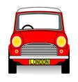 Red mini vector image