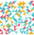 Seamless geometric vintage pattern With triangles vector image vector image