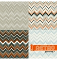 Set of four abstract retro seamless patterns vector image vector image