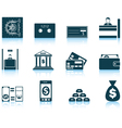 Set of twelve bank icons vector image