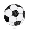 soccer ball on white background hand drawn sketch vector image