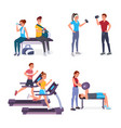 sport people flat set vector image vector image