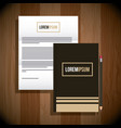 stationery template business branding document and vector image vector image