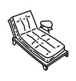 sunbathing icon doodle hand drawn or outline icon vector image