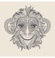 tattoo design head monkey vector image