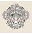 Tattoo design head of the monkey vector image