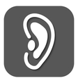 The ear icon Listen symbol Flat vector image